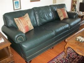 Navy Blue Leather Sofa.  Beautiful condition!