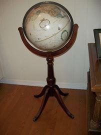 Replogle globe on stand.