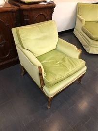 1960s Vintage Sea foam Green Upholstered Chair