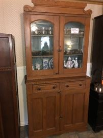 Antique cabinet with glass doors over 100 years old!