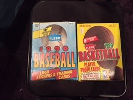 Unopened Boxes of Baseball Cards as Well as Unopened Packs.