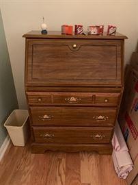 Drop Leaf Desk with Drawers