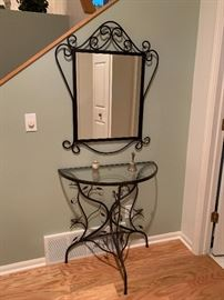Entrance Table with Mirror