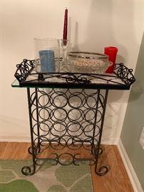 Wine Rack holder and Mosiac Tray
