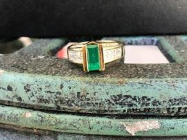 Beautiful Emerald and Diamond Ring.