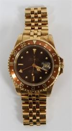 "ROLEX OYSTER PERPETUAL, 18KT GOLD, MEN'S WRIST WATCH, CA. 1980, L 7"", 150 GR, Lot # 1054"