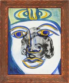 """KENNY SCHARF, ACRYLIC, 1992, H 17"""", W 14"""", REINCARNATION  Lot 2061"""