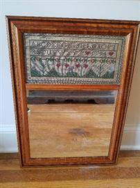 Vintage Sampler Mirror