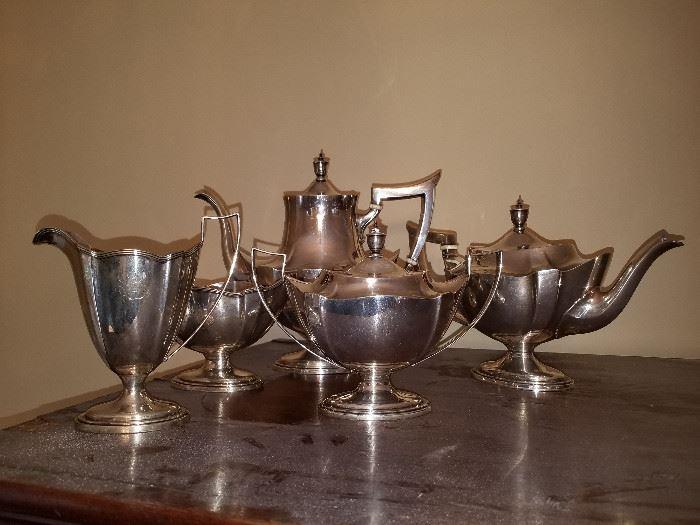 Antique 5 Pc. STERLING SILVER Tea Service