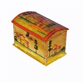 19th C. Painted Pine Trinket Box