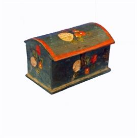 19th C. Painted Trinket Box