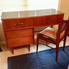 Small Mid-Century Desk & Chair