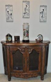 Console cabinet. Asian style decorative
