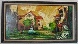 Original painting signed Brittini - Britt Lomond
