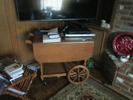 "BAR CART & 55"" SONY FLAT SCREEN"