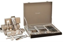 7. Partial Set of CHRISTOFLE Flatware in Albi