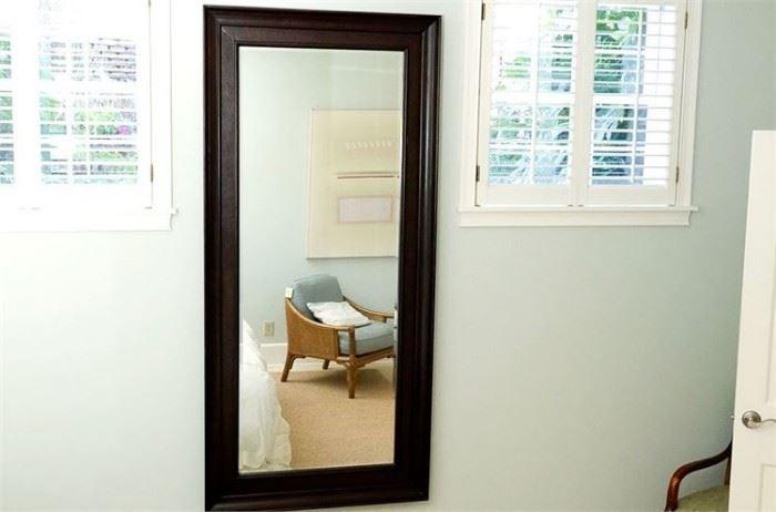 1. Wooden Framed Wall Mirror