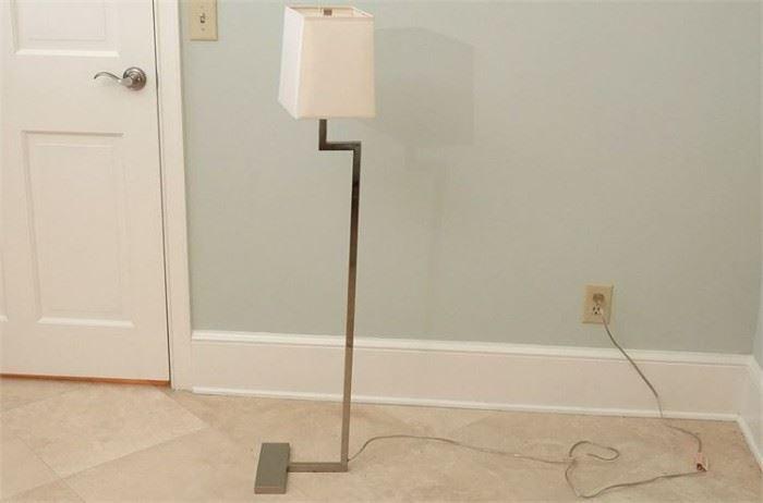 4. Robert Abbey Brushed Steel Floor Lamp