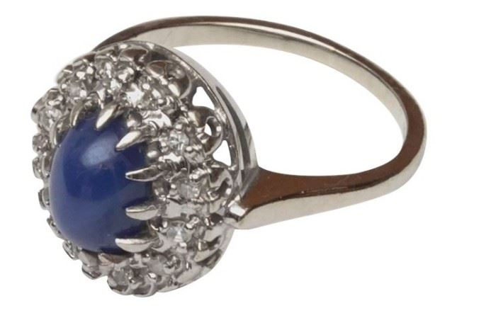 73. 14K and Star Sapphire Cocktail Ring