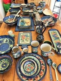 Oodles and Oodles of wonderful goodness in this Unikat handmade Polish Pottery