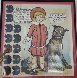 Buster Brown Large Framed Art