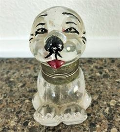 ANTIQUE FIGURAL GLASS BONZO THE DOG INK WELL 1926