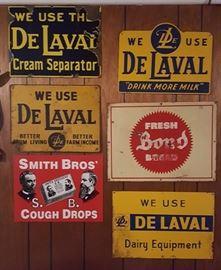 Vintage DeLaval signs