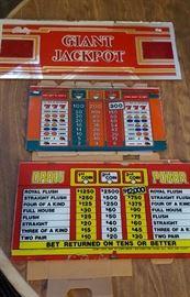 Bally Slot Machine Glass