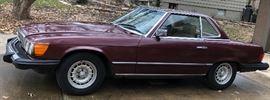 Mercedes 380 SL, 1985, 86K Original Miles, Sealed Bid Auction (Only During Sale)