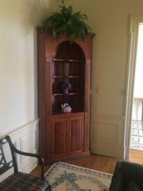 Custom made corner cabinet