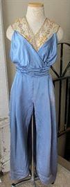 Antique Titanic Era Silk & Net Bead Evening Gown Project, c1912
