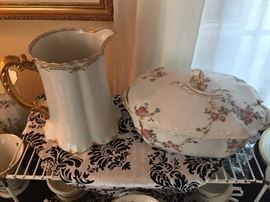 Haviland Limoges tureen and pitcher