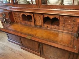 Antique Chippendale Breakfront Detail