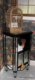 Mirrored Small Cabinet , Modern Bird cage