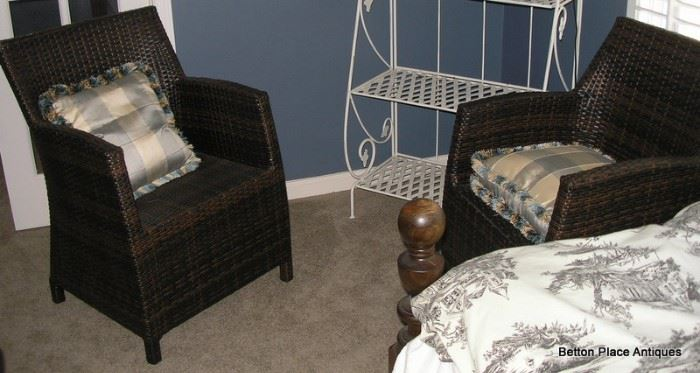 Two Very comfortable Contemporary Wicker Armchairs