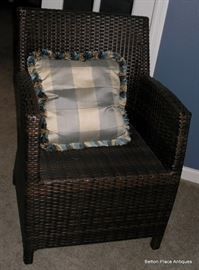 Closer View of the Cane Armchairs