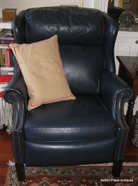 Pair of Matching Bradington Young Leather Recliner Armchairs