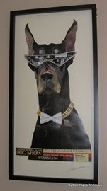Alex Zeng  Art Collage of a Doberman Pinscher