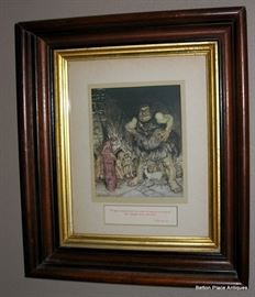 Framed Lithographs from Old Childrens books   y Arthur Rackham