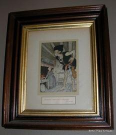 Arthur Rackham Illustration Litho from a Book framed