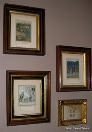 These are all Arthur Rackham Lithos from one of his childrens books framed