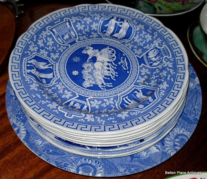 These are all Blue and white English dinnerplates, different makers and patterns