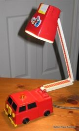 Vintage Fire Engine light for a Child and is working