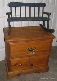 Primitive Small pine Chest with small rocker