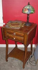Stunning Antique Oak Work Table