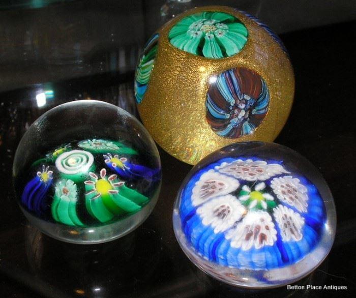 Three Murano Glass Paperweights