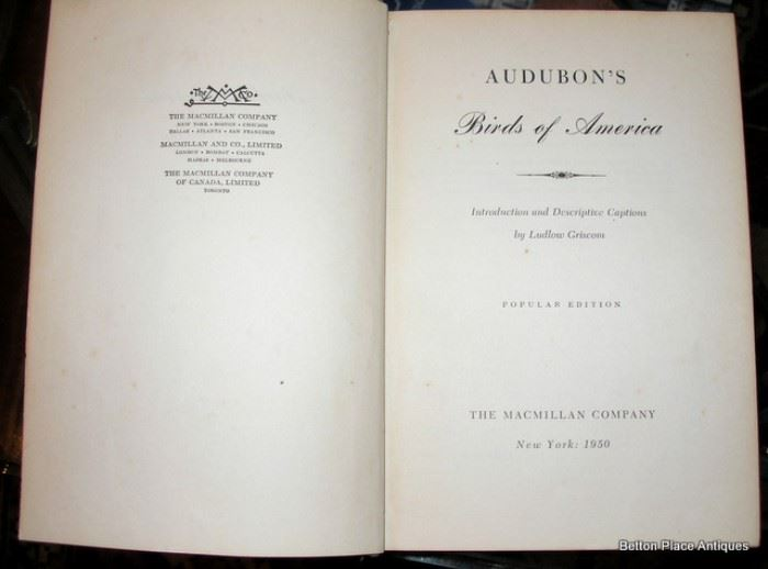 Audubons Birds of America with illustrations