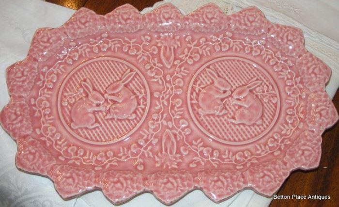 Italian Pink Easter platter