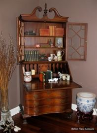 Stunning Mahogany Secretary Antique , this is 20 inches deep, 36 inches wide and 86 inches tall to top of finial.