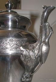 1880s Middletown aesethetic era Teapot with Bird Handle
